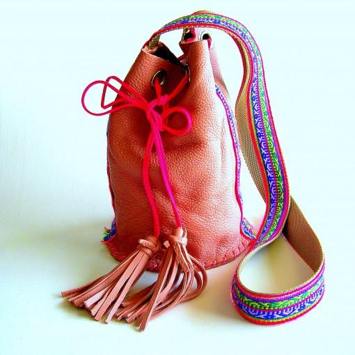 sac seau rose