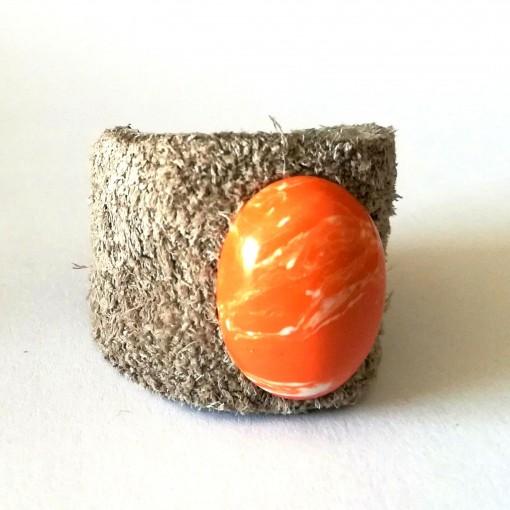 bague pierre orange